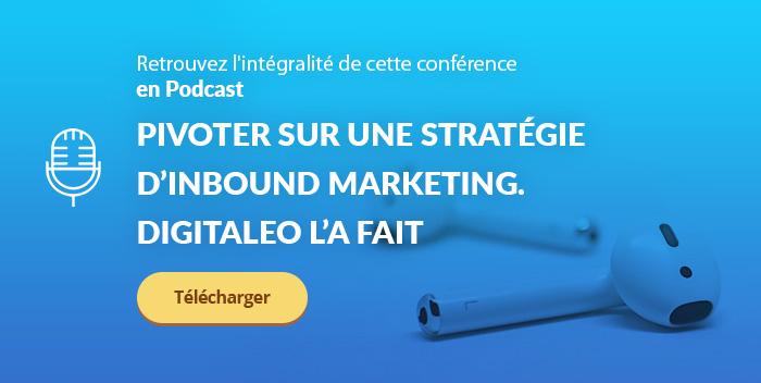 Conférence sur l'expérience de Digitaleo sur l'inbound marketing à l'IMF19